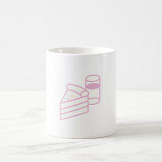 cake and milk and coffee coffee mug
