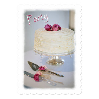 Cake And Roses Anniversary Party Invitation