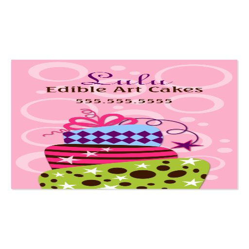 Cake Art Bakery : Cake Art Bakery Business Cards Zazzle