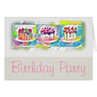 Cake Art Birthday Party Invitation