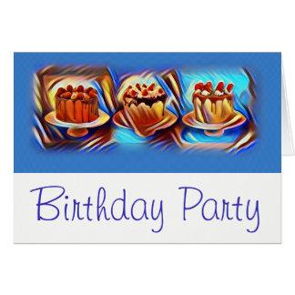 Cake Art Blue Birthday Party Invitation