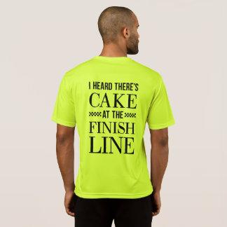 Cake at the Finish Line Runner's Shirt