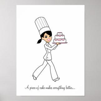 Cake Baker Chef Girl Poster