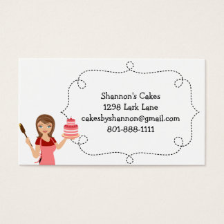 Cake/bakery woman Business card