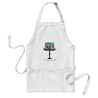 Cake Blue Rose Flower White Standard Apron
