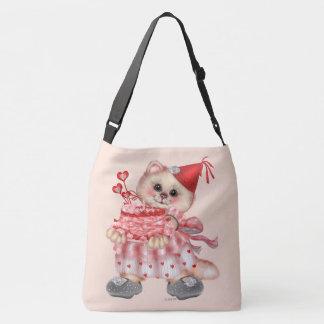 CAKE CAT CARTOON All-Over-Print Cross Body  LARGE Crossbody Bag