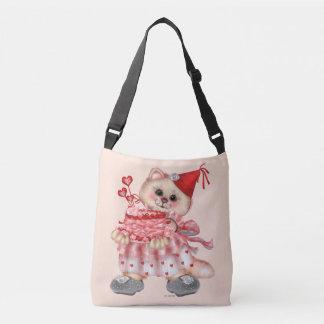 CAKE CAT CARTOON All-Over-Print Cross Body  MEDIUM Crossbody Bag