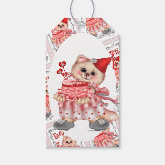 CAKE CAT CARTOON GIFT TAG