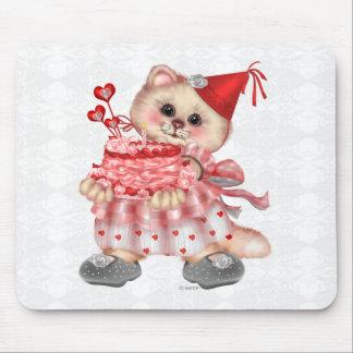 CAKE CAT  CARTOON  Mousepad
