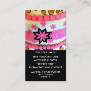 Homemade cake business cards zazzle au cake decorating business card reheart Choice Image