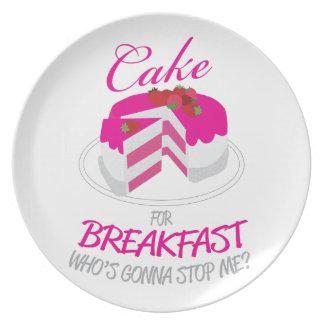 Cake For Breakfast Plate