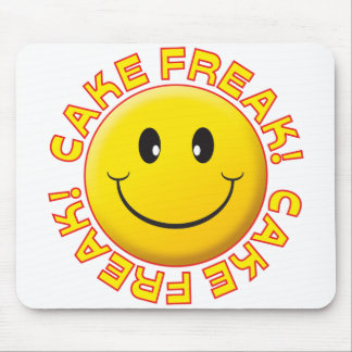 Cake Freak Smile Mouse Pads