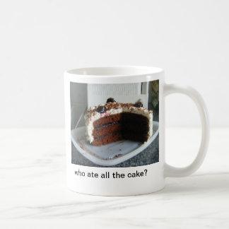 cake gone! basic white mug
