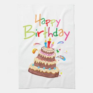 Cake Happy Birthday Tea Towel