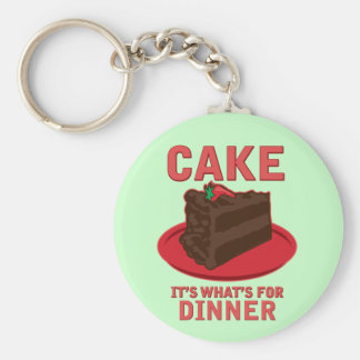 Cake, It's What's For DInner Basic Round Button Key Ring