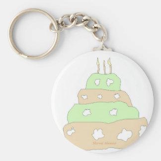 cake basic round button key ring