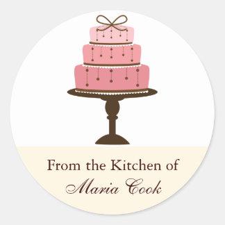 Cake Kitchen Label Round Sticker