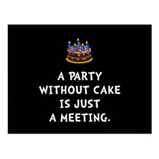 Cake Meeting Postcard