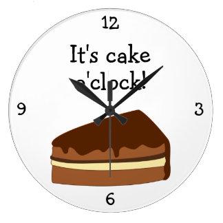 Cake O'Clock fun food graphic Wallclocks