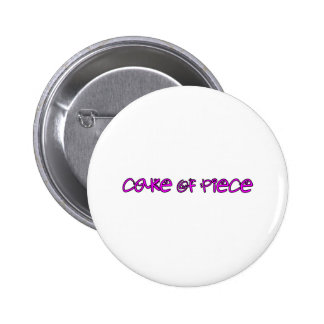 cake of piece pinback buttons