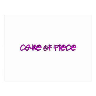 cake of piece postcard