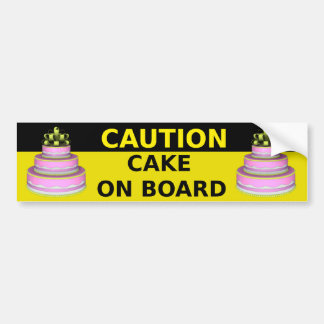 Cake On Board Sticker