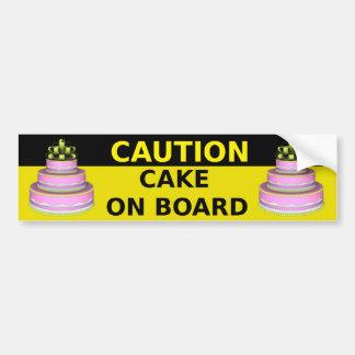 Cake On Board Sticker Bumper Stickers