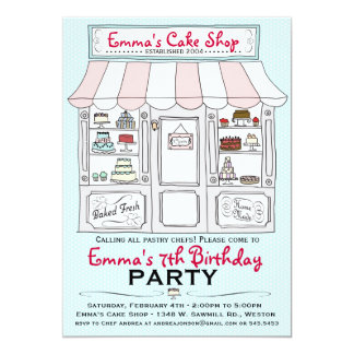 Cake Party Invitation