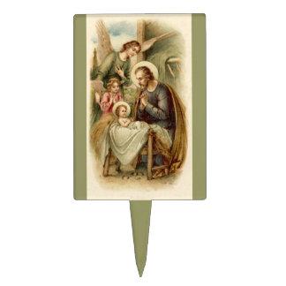 Cake Pick St Joseph Nativity
