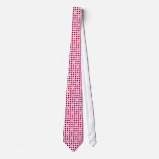 Cake Pink Checkered Pattern Tie