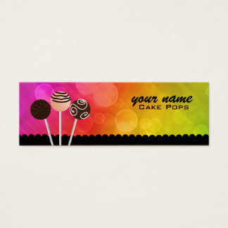 Cake Pops Business Cards Bookmarks