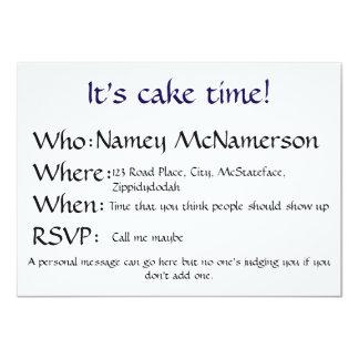 Cake time invites