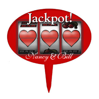 CAKE TOPPER Las Vegas Jackpot Wedding