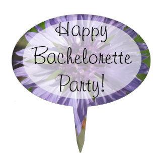 Cake Topper - Lilac Purple Bachelor s Button