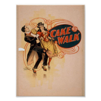 Cake Walk Retro Theater Poster