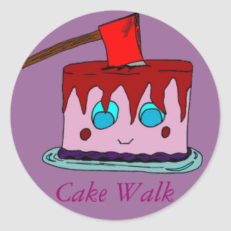 Cake Walk Round Sticker
