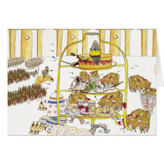 Cake Wars funny novelty art greetings card
