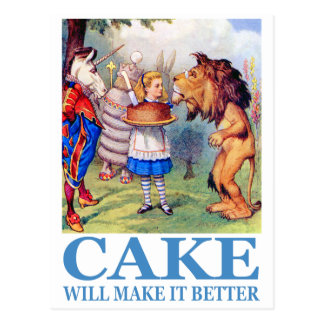 CAKE WILL MAKE IT BETTER POSTCARD
