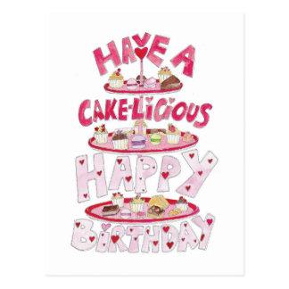 Cakelicious Happy Birthday Postcard