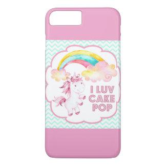 CakePop the Unicorn iPhone Case - Teal Chevron