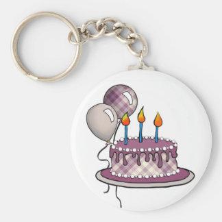 Cakes-003 Maroon Tartan Plaid Key Chain
