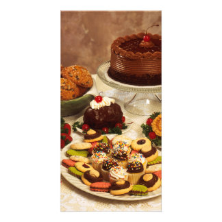 Cakes and sweets personalized photo card