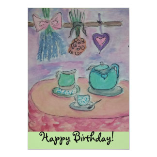 cakes and tea card