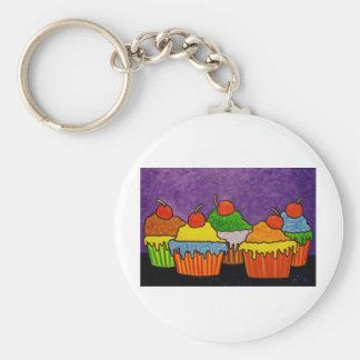 Cakes for Dessert Basic Round Button Key Ring