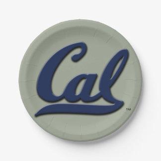 Cal Logo Paper Plate