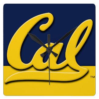 Cal Logo Square Wall Clock