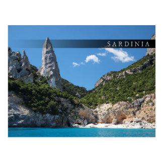 Cala Goloritze beach, Sardinia bar postcard