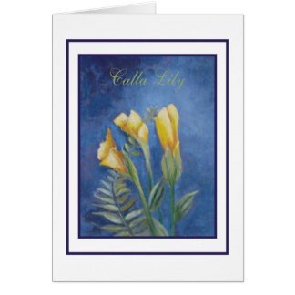 cala lily card