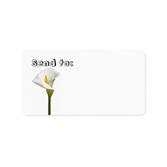 Cala Lily Gift and Address Label