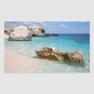 Cala Mariolu beach, Sardinia rectangular sticker